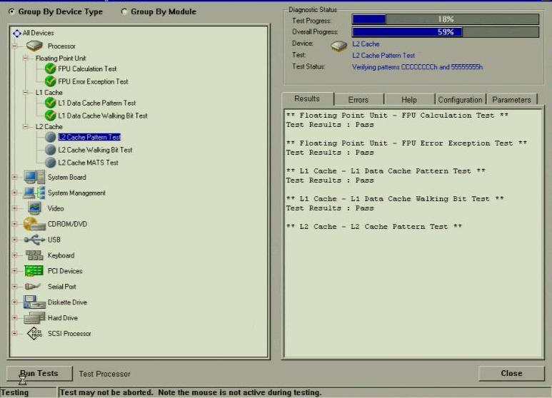 Dell Diagnostics - Custom GUI Menu