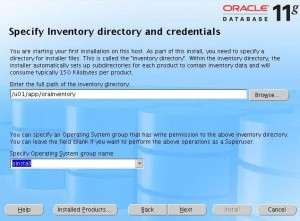[Specify Inventory Directory]