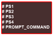 PS[1-4] and PROMPT_COMMAND
