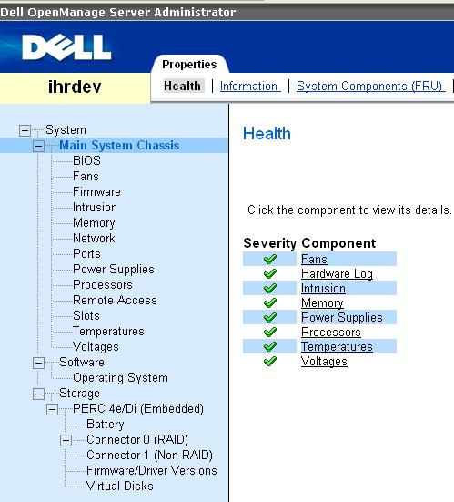 DELL OMSA Check System Health
