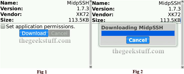 Download MidpSSH to BlackBerry Phone