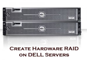 DELL Server LSI Logic Create Hardware RAID