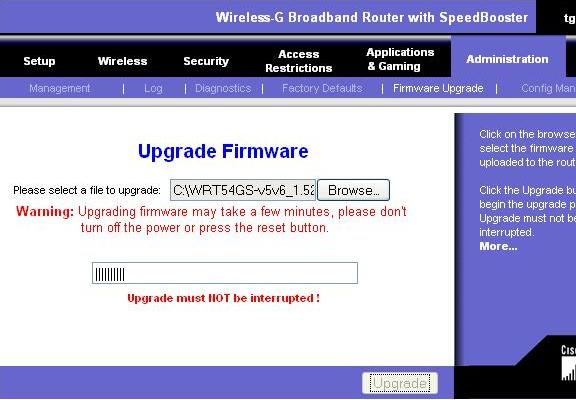WRT160N Linksys Firmware Upgrade