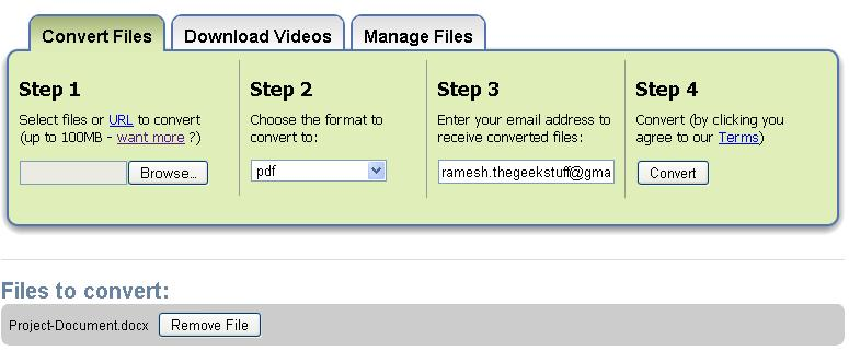 File Format Converter - pdf to jpg