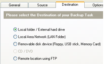 Fig: Backup Windows 7 - Select th
