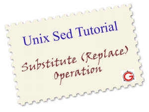 Sed Examples for Unix and Linux - Find and Replace