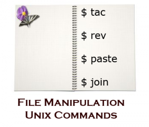 Linux tac, rev, paste, and join command