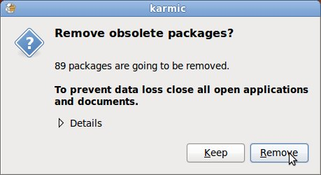 Ubuntu Karmic Koala Remove obsolete packages after upgrade