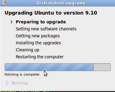 Upgrade to Ubuntu Karmic Koala - Preparing Upgrading Ubuntu to Version 9.10