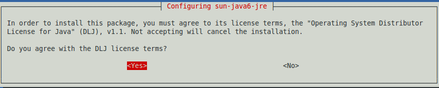 Fig: Accept Java JDK/JRE License Terms - Click Yes