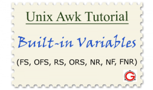 Linux Awk Tutorial - Awk Built-in Variables Examples