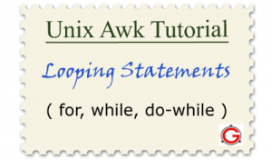 Linux Awk For, While Loop Examples