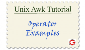 Linux Awk Tutorials - Awk Reg-Ex Operator Examples