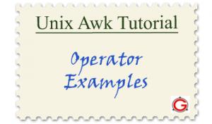 Linux Awk Tutorials - Awk Reg-Ex Operator Examples