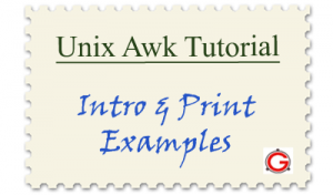Linux Awk Tutorial - Introduction and Awk Examples