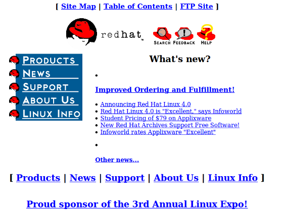 RedHat 1996 Website