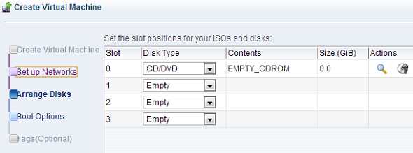 Oracle OVM Create VM Arrange Disks ISO