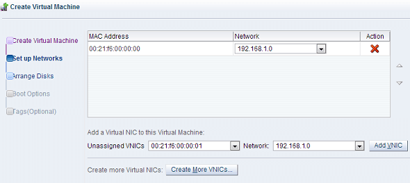Oracle VM Create VM Networks