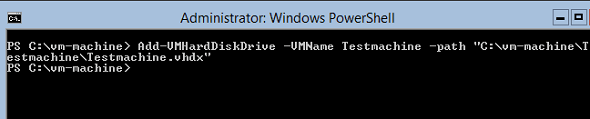 Powershell Add vmharddiskdrive