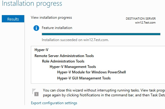Windows Hyper-V Role Installation