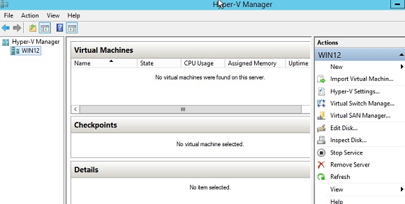 Windows Hyper-V Manager