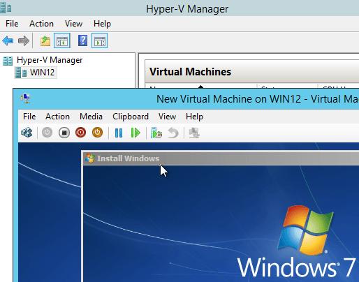 Hyper-V Install Guest OS