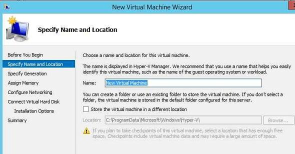 Hyper-V Specify New VM Name
