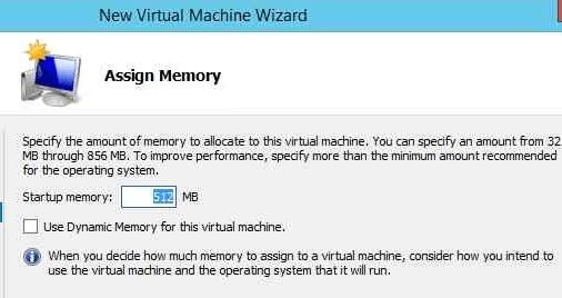 Hyper-V Assign VM RAM