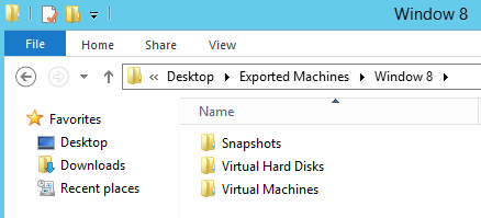 Exported Hyper-V VM Folders
