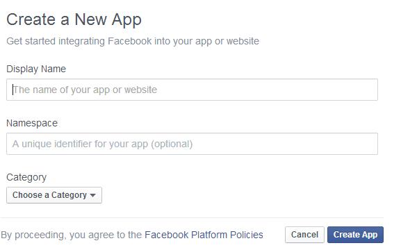 Facebook App Create App