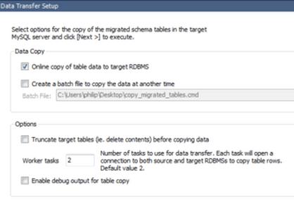 MySQL Workbench Migration Data Transfer