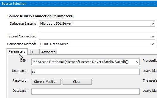 MySQL Workbench Migration Select Source