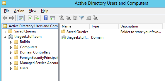 How to install active directory on windows server 2012 from server manager - Console active directory ...