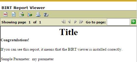 BIRT Viewer Sample Report