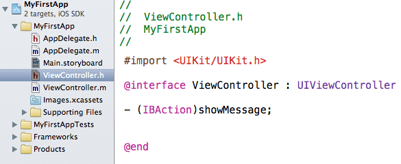 Xcode viewcontroller.h
