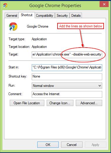 Chrome Browser Target