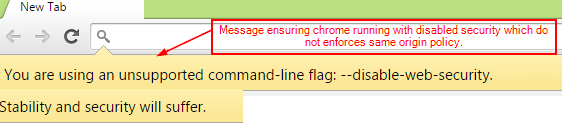 Chrome Browser Warning