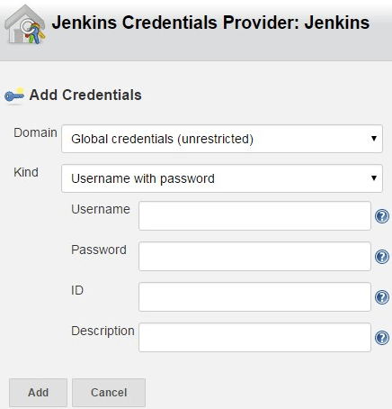 Jenkins Git Create Credentials