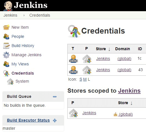 Jenkins Git Credentials List