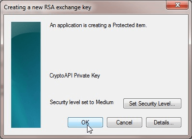 Create New RSA Exchange Key