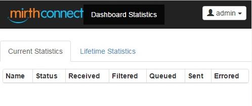 MirthConnect Web Dashboard