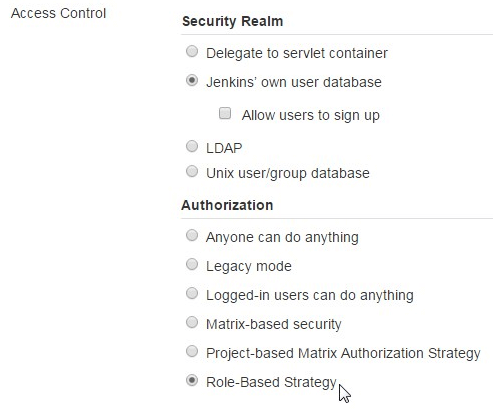 Jenkins-Access-Control-Role-Based-Strategy