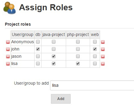 Jenkins Assign Roles