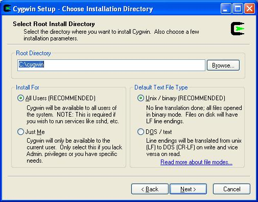 Launch software installers on Linux from Windows using Cygwin