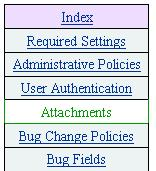 [Bugzilla Configuration - Attachments menu items]