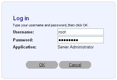 dell openmanage default admin password