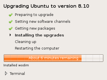 Ubuntu - Installing the upgrades