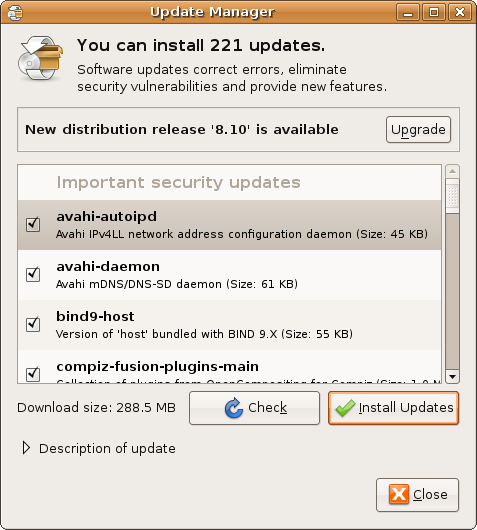 Ubuntu Update Manager