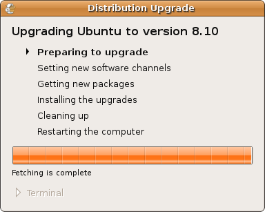 Ubuntu - Preparing to Upgrade
