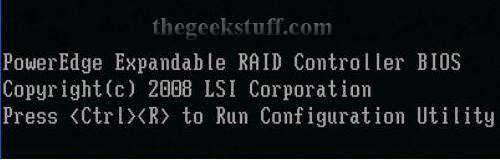 Ctrl-R Launch RAID Controller on Dell PowerEdge T105 Server
